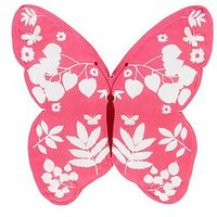 Catherine Lansfield Butterfly Cushion, Pink