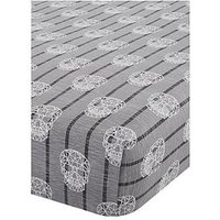 Catherine Lansfield Skulls Fitted Sheet - Single, Grey