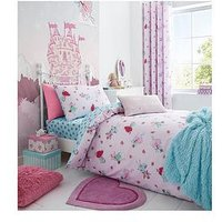 Product photograph showing Catherine Lansfield Fairies Single Duvet Cover Set - Single