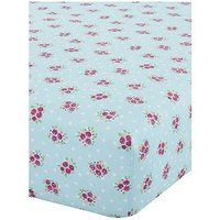 Product photograph showing Catherine Lansfield Fairies Double Fitted Sheet - Single