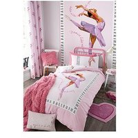 Product photograph showing Catherine Lansfield Ballerina Duvet Cover Set - Double