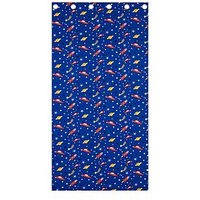 Catherine Lansfield Outer Space Lined Curtains, Blue