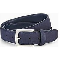 V by Very Mens Faux Suede Belt, Navy, Size 34-36, Men