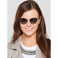 Ray-Ban Clubround Sunglasses - Black, Black, Women