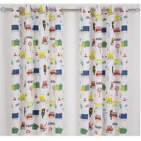 Catherine Lansfield Diggers Eyelet Curtains, Multi