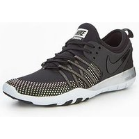 Nike Free TR 7 Shine - Black, Black/Black, Size 3, Women