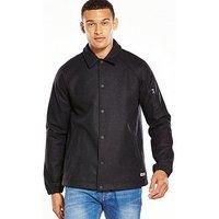 Converse Winterwool Coaches Jacket, Charcoal Marl, Size L, Men