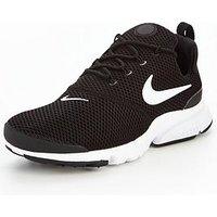 Nike Presto Fly - Black, Black/White, Size 6, Women