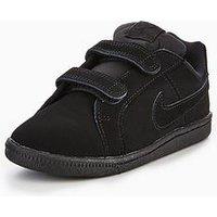 Nike Court Royale Infant Trainer, Black/Black, Size 4