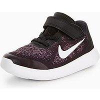 Nike Free RN 2 Infant Trainer, Black/White, Size 7