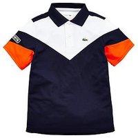 Lacoste Sports Boys Colourblock Tennis Polo, Multi, Size 14 Years
