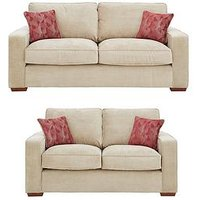 Aria 3-Seater Plus 2-Seater Standard Back Fabric Sofa Set (Buy And Save!)
