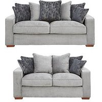 Aria 3-Seater + 2-Seater Scatterback Fabric Sofa Set (Buy And Save!)