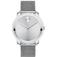 MOVADO Movado Bold 36mm case stainless steel silver dial mesh strap ladies watch, One Colour, Women