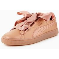 Puma Basket Heart - Copper , Copper, Size 8, Women