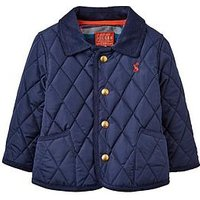 Joules Baby Boys Milford Quilted Jacket, Navy, Size 3-6 Months