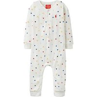 Joules Baby Boys Webley Waffle Jersey Babygrow, Cream, Size 12-18 Months
