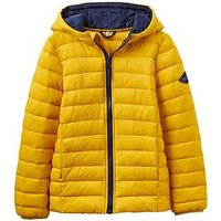 Joules Boys Cairn Pack Away Quilted Jacket, Antique Gold, Size Age: 11-12 Years