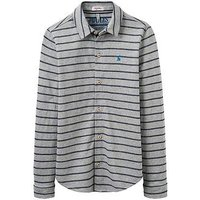 Joules Boys Reggie Jersey Shirt, Grey Marl, Size 5 Years