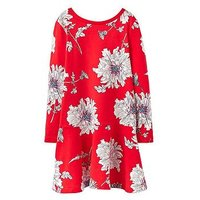 Joules Girls Josie Trapeze Dress, Red Floral, Size 4 Years, Women