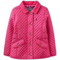 Joules Girls Newdale Quilted Jacket, Fuchsia, Size 6 Years, Women