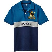Joules Boys Harry Polo Shirt, Blue Stripe, Size 4 Years