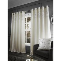 Catherine Lansfield Glitzy Sequin Eyelet Curtain