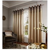 Catherine Lansfield Chicago Faux Silk Eyelet Curtains