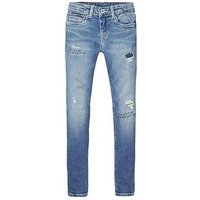 Tommy Hilfiger Girls Nora Skinny Ripped Jean, Light Blue, Size Age: 4 Years, Women