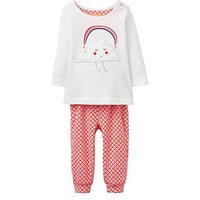 Joules Girls Poppy Applique 2 Piece Outfit, Pink, Size 3-6 Months