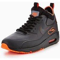 Nike Air Max 90 Ultra Mid Winter Se, Black/Orange, Size 6, Men