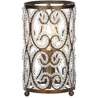 Beaded Antique Brass Table Lamp