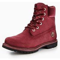 Timberland Timberland 6 Inch Velvet Detail Premium Waterproof Ankle Boot, Port, Size 6, Women