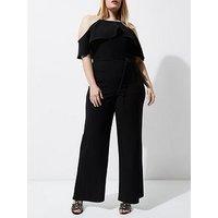 RI Plus Black Jumpsuit, Black, Size 18, Women