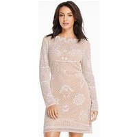 Michelle Keegan Embellished Mini Dress, Cream, Size 12, Women