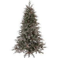 Cumbria Snow Tipped Real Look Christmas Tree With Pine Cones (7Ft)