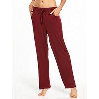 Pour Moi Sofa Love Trouser, Deep Red, Size 12, Women