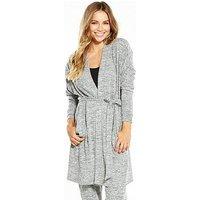 Pour Moi Sofa Love Marl Wrap - Grey, Grey, Size 14, Women
