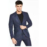 Selected Homme Iver Suit Blazer, Dark Blue, Size 44, Men
