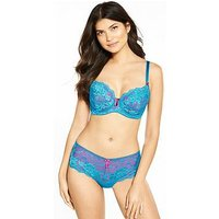 Pour Moi Amour Non Padded Underwired Bra, Teal/Raspberry, Size 38D, Women