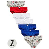Mini V by Very Boys 7 Pack Rudolph Novelty Briefs, Multi, Size 18-24 Months
