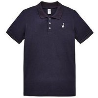 Hype Boys Navy Polo Top, Navy, Size 3-4 Years