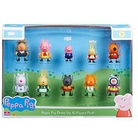 Peppa Pig Dress-Up 10 Figure Pack