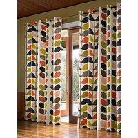 Orla Kiely Linear Stem Lined Eyelet Curtains