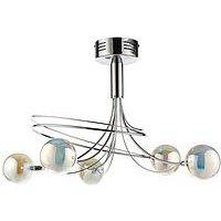 Product photograph showing Luna Swirl 5-light Globe Ceiling Light