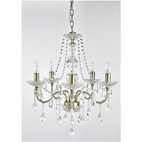Product photograph showing Luxe Collection Alessandra 5-light Pendant Chandelier