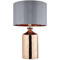Product photograph showing Braxton Copper Glass Base Table Lamp