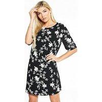 Vero Moda Martha 2/4 Short Dress, Black Beauty, Size 8=S, Women