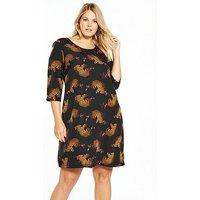 JUNAROSE Janne Zeenan Three-quarter Sleeve Above Knee Dress, Print, Size 22, Women