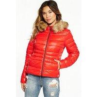 Vero Moda Melverta High Shine Jacket, Scarlet, Size 6=Xs, Women
